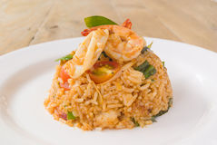 Tom Yam Seafood Fried Rice Imagem de Stock Royalty Free