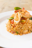 Tom Yam Seafood Fried Rice Imagens de Stock Royalty Free