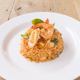 Tom Yam Seafood Fried Rice Fotografia de Stock