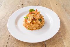 Tom Yam Seafood Fried Rice Royalty Free Stock Photo