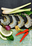 Tom Yam Soup Ingredients Royalty Free Stock Photography