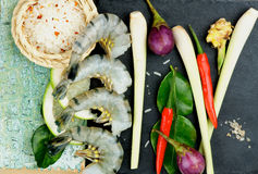 Tom Yam Soup Ingredients Royalty Free Stock Photo
