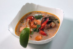 Tom yam soup Royalty Free Stock Photo