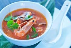 Tom yam soup Royalty Free Stock Image