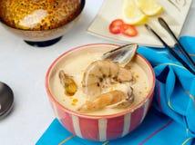 Tom-Yamswurzel-Garnele-heiße Suppe lizenzfreie stockbilder