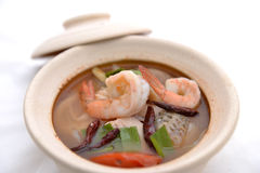 Tom yum in bowl Royalty Free Stock Image