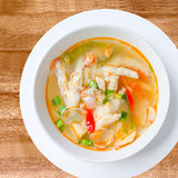 Tom Yum chicken feet , spicy soup. Thai food - Tom Yum chicken feet , spicy soup Royalty Free Stock Image