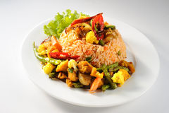 Tom Yum Fried Rice Stock Photos