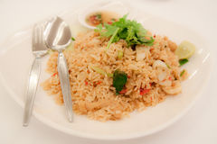 Tom Yum Fried Rice. In writing at the Tom Yam fried rice that. Thailand is a strong spicy Stock Photography