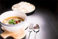 Tom Yum Gai, potage au poulet épicé Image libre de droits