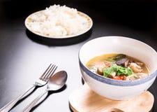 Tom Yum Gai, potage au poulet épicé Images stock