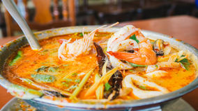 Tom Yum Goon in hot pot. Stock Photography