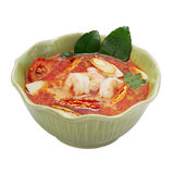Tom yum goong. Thai food on white background Stock Image