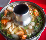 Tom Yum Goong in hot pot Royalty Free Stock Image