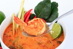 Tom Yum Goong, minestra calda ed acida dello stile tailandese del gamberetto fotografie stock libere da diritti