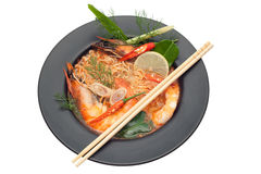 Spicy seafood noodle Royalty Free Stock Photos