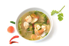 Tom Yum Goong polewka z garnelą, Tajlandzki jedzenie Obraz Stock