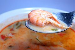 Tom Yum Goong (shrimp hot soup) Royalty Free Stock Photo