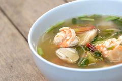 Tom Yum Goong soup, Thai food Stock Photo