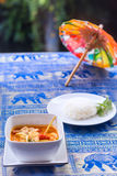Tom Yum Goong soup - Thai the most famous dish Stock Image