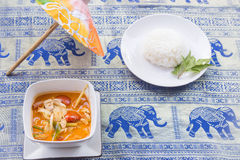 Tom Yum Goong soup - Thai the most famous dish Stock Photos
