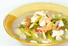 Tom Yum Goong.(spicy shrimp) Stock Photos