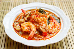 Tom Yum Goong, spicy soup with shrimp. Stock Image