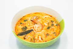 Tom yum goong. Spicy soup with shrimps which is known in thailand as tom yum goong Royalty Free Stock Images