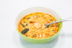 Tom yum goong. Spicy soup with shrimps which is known in thailand as tom yum goong Stock Photo