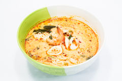 Tom yum goong. Spicy soup with shrimps which is known in thailand as tom yum goong Royalty Free Stock Image