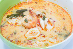 Tom yum goong. Spicy soup with shrimps which is known in thailand as tom yum goong Stock Image