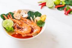 Tom Yum Goong Spicy Sour Soup foto de stock royalty free