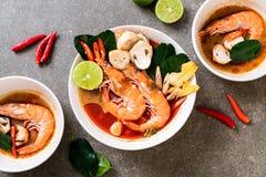 Tom Yum Goong Spicy Sour Soup imagem de stock