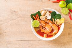 Tom Yum Goong Spicy Sour Soup foto de stock royalty free