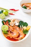 Tom Yum Goong Spicy Sour Soup imagem de stock