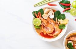 Tom Yum Goong Spicy Sour Soup imagens de stock