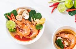 Tom Yum Goong Spicy Sour Soup fotos de stock royalty free