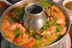 Tom Yum Goong. Thai hot spicy soup shrimp, Thailand Food Royalty Free Stock Photos