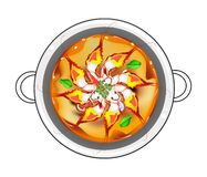 Tom Yum Goong or Thai Sour Soup with Prawns Royalty Free Stock Photos