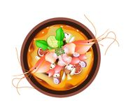 Tom Yum Goong or Thai Spicy and Sour Soup Stock Photos