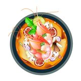 Tom Yum Goong or Thai Spicy and Sour Soup Stock Images