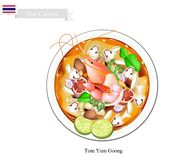 Tom Yum Goong or Thai Spicy and Sour Soup Royalty Free Stock Photo