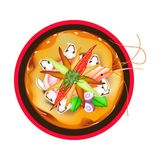 Tom Yum Goong or Thai Spicy Sour Soup with Prawns Stock Photography