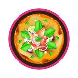 Tom Yum Goong or Thai Spicy Sour Soup with Prawns Stock Photo