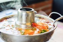 Tom yum gung hot pot stock images