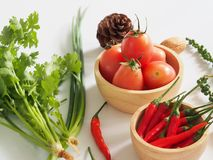 Tom yum herbal ingredients Royalty Free Stock Image