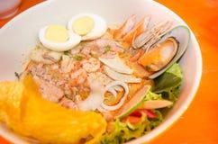 Tom yum hot spicy food thailand. Tom yum food royalty free stock photo