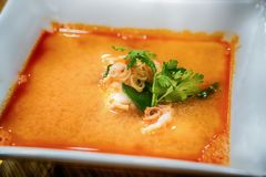 Tom Yum Kroong Soup Arkivfoto