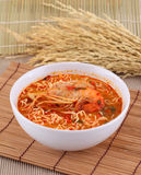 Tom yum kung noodle soup Stock Photography