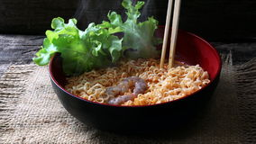 Tom Yum Kung Noodle Royalty Free Stock Photography